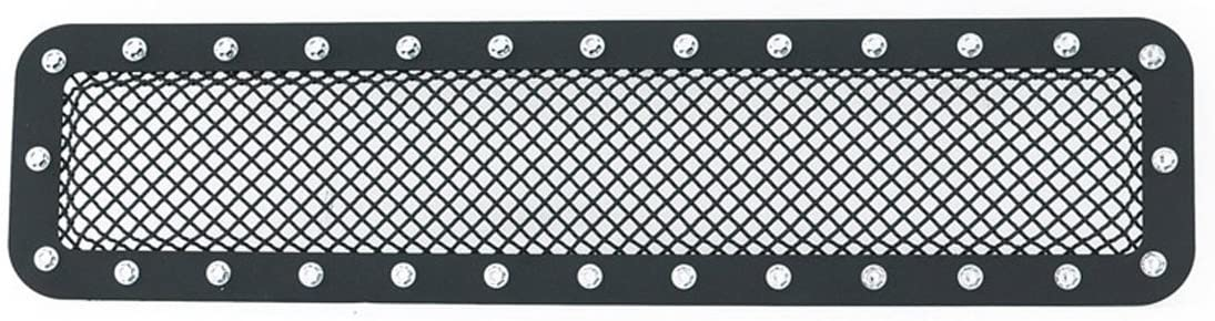 Paramount Restyling 46-0745 Black Stainless Steel Wire Mesh Bumper Grille (Ford Super Duty F-250/F-350 Evolution)