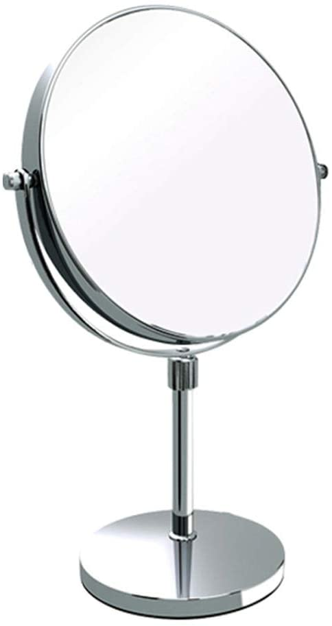 WXR Vanity Mirrors 360 Degree Rotation Makeup Mirror Double Sided Amplification Dressing Mirror Household Beauty Mirror Cabinet-Table HD Mirror (Color : D, Size : 20cm)