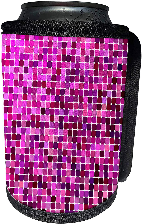 3dRose David Zydd - Square Backgrounds - Purple color square mosaic - Can Cooler Bottle Wrap (cc_301669_1)