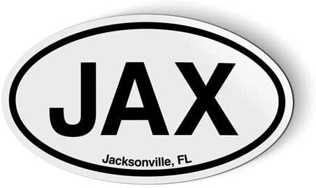 Stickers & Tees Jax Jacksonville FL Florida Oval - Car Magnet - 5
