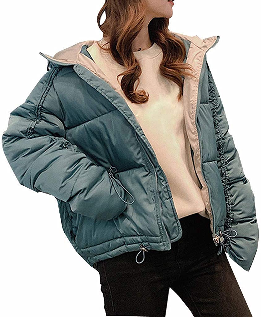 Ellymi Winter Ladies Plus Size Loose Down Jacket Hooded Jacket Loose Cotton Suit Cotton Jacket New Overcoat