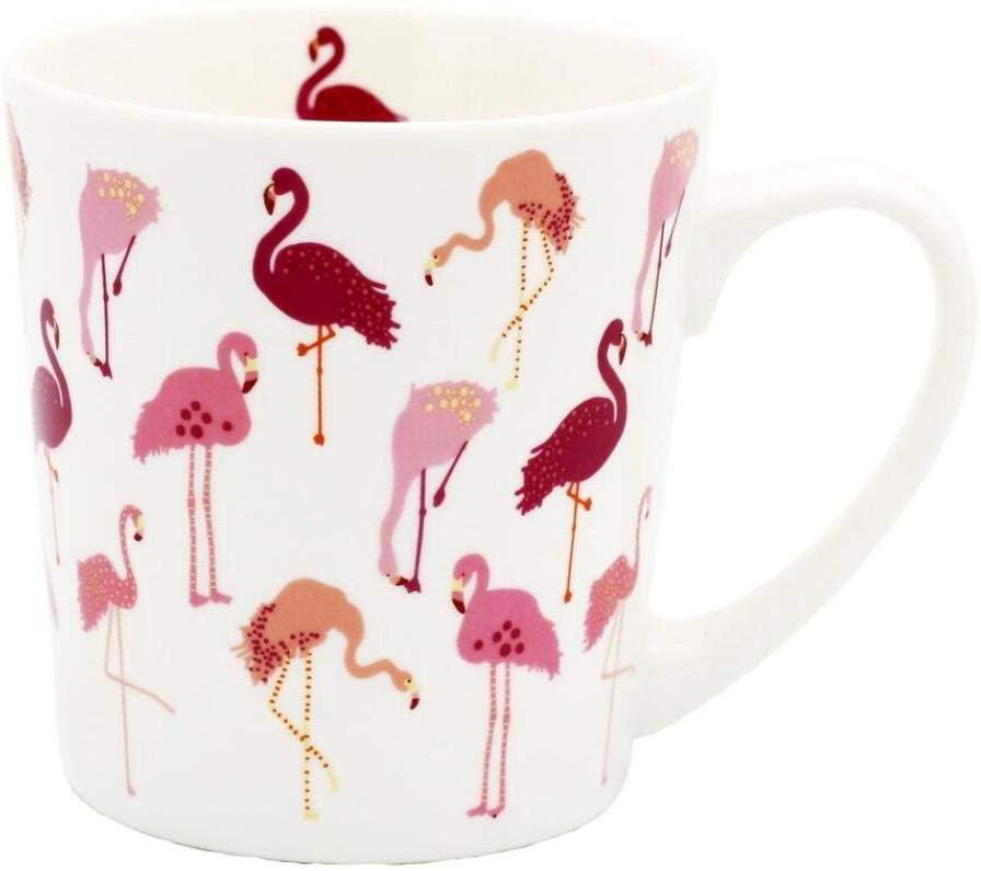 Nuokix Mugs Coffee Cups, Ceramic Cup Large Bone China Coffee Cup Animal Bird Cup Tea And Milk Pink Colorful Creative Wedding