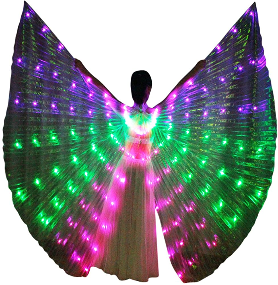 dance-led LED ISIS Wings Cape USB Rechargeable for Belly Dance Cosplay Glow Show