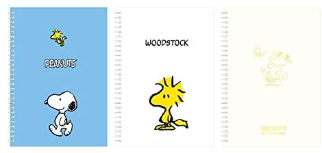 Peanuts Snoopy Spring Notebook 3PCS 1SET M-size
