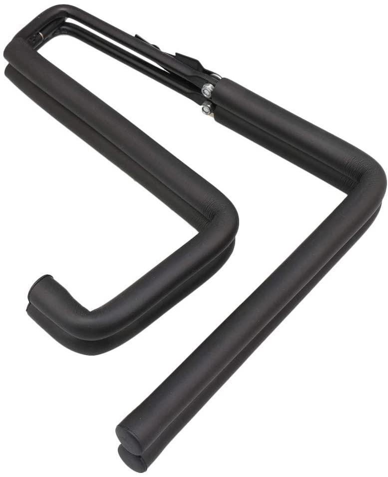 Mxfans Adjustable Folding Ukulele Violin Instrument Stand Black Metal Sponge