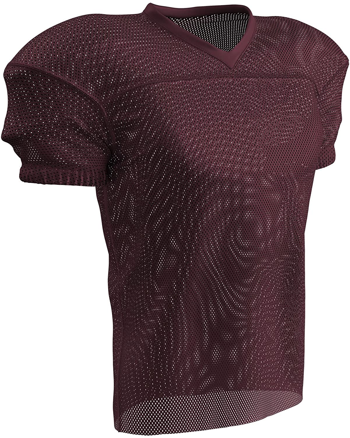 CHAMPRO Fire Football Jersey; Adult Maroon