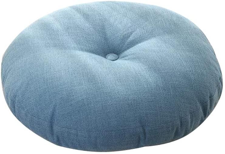 YXB Round Futon Cushion Linen Cushion Fabric Thickening Washable D5/1 (Size : 50cm)