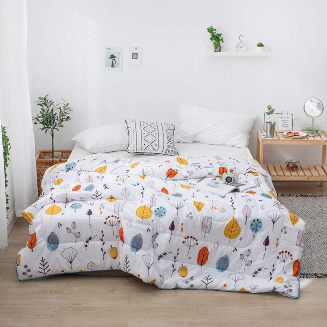 ZIHUAD Bedlinings Cotton and Soybean Summer Quilt Spring and Autumn were Quilt by Children-N-70100CM