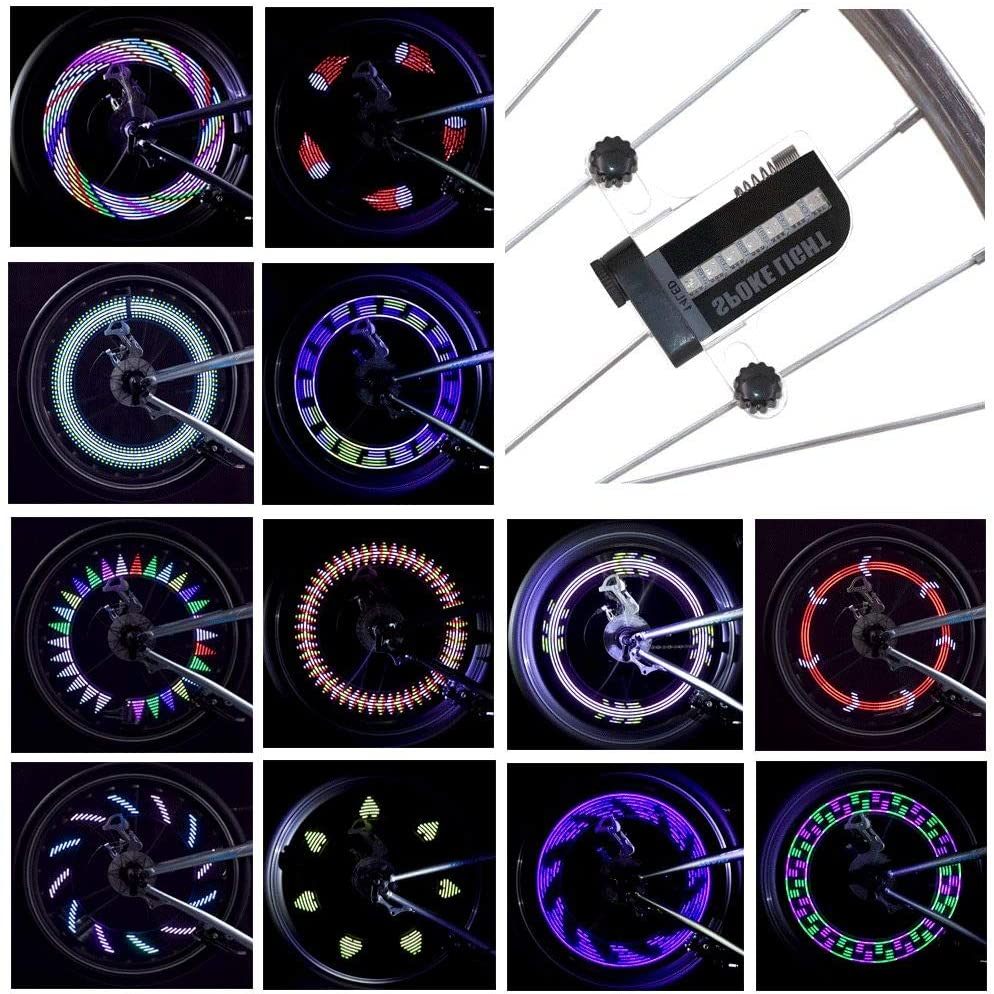 LeBoLike Bike Wheel Lights Colorful and Bright LED Bicycle Spoke Lights for Kid & Adults Bike Wheels Decorations