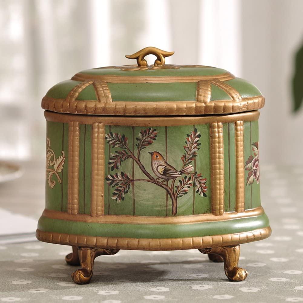 WODESHIJIE Ceramics Rural The Poet Green Jewelry Boxes