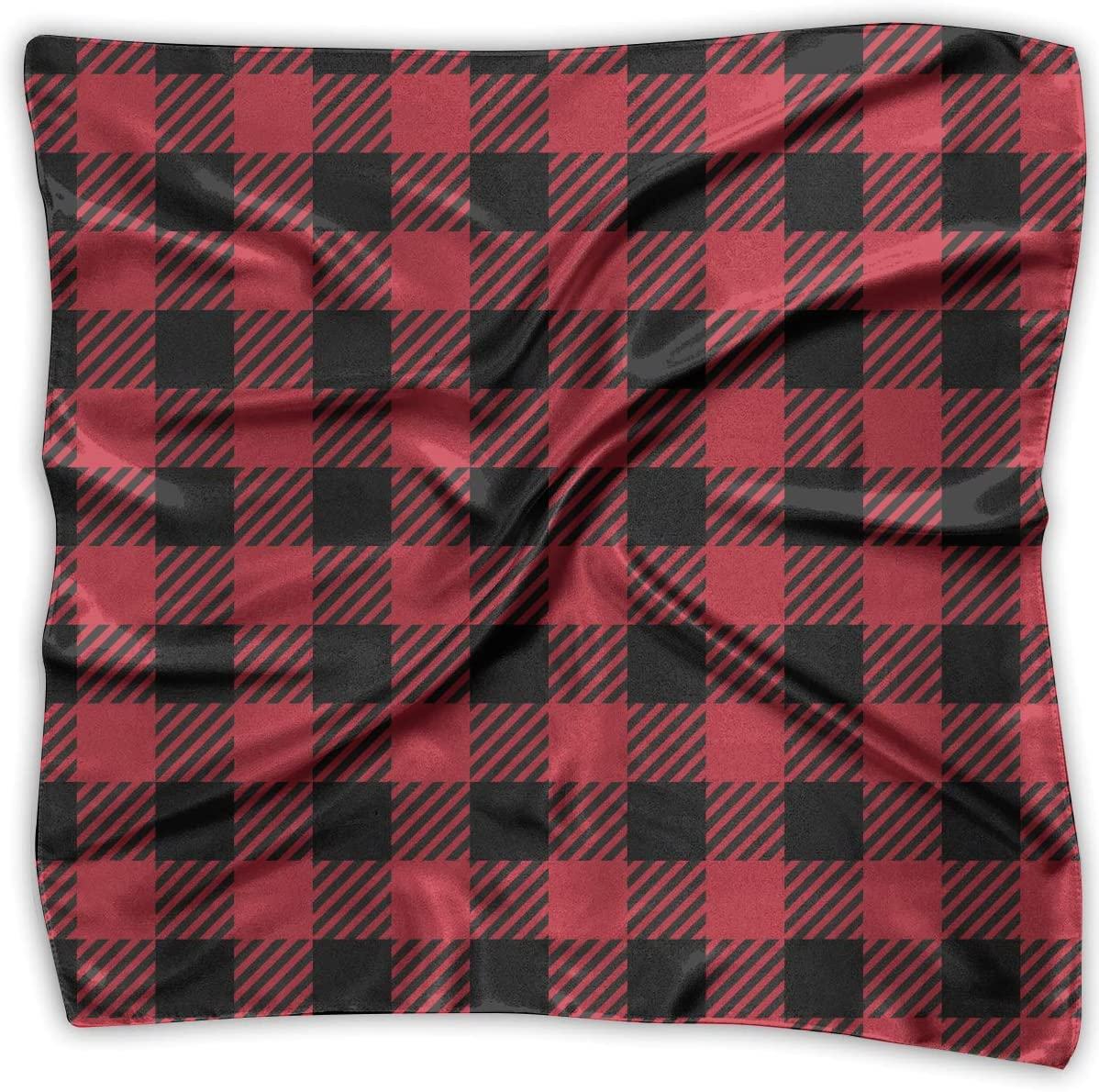 WFIRE Buffalo Red Striped Plaid Square Handkerchiefs Scarf Shawl Bandanas Headscarf Neckerchief Tie Hair Scarf