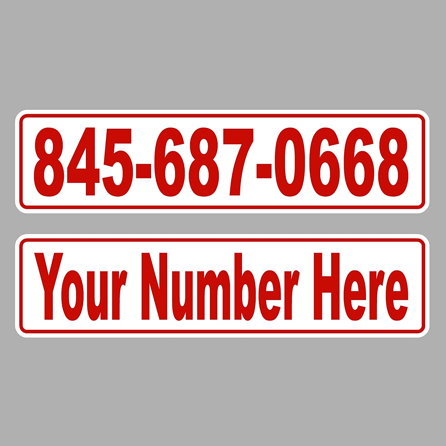 Designer Signs Custom Reflective Magnets - Your Phone Number or Other Text - Sold Individually