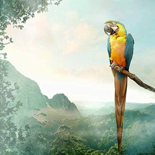 Party Napkins Paper Napkins Disposable Rainforest Decor Jungle Safari Theme Tropical Parrot 6.5