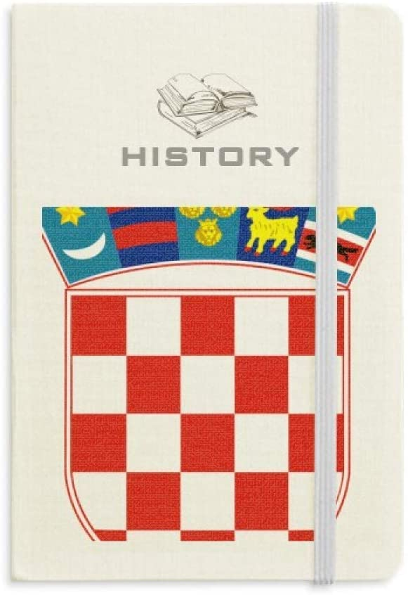 Croatia National Emblem Country History Notebook Classic Journal Diary A5