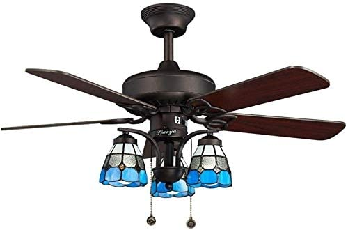 KDLW White Wood Leaf Chandelier Ceiling Fan Light, Living Room Dining Room Fan Light Ceiling Lighting (Size : 107 51 cm) 0813