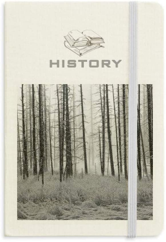 Forest Winter Snow Trees Frost History Notebook Classic Journal Diary A5