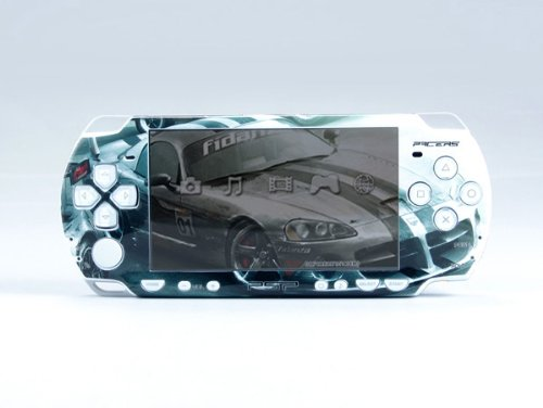 RAC-WHITE PSP (Slim) Dual Colored Skin Sticker, PSP 2000