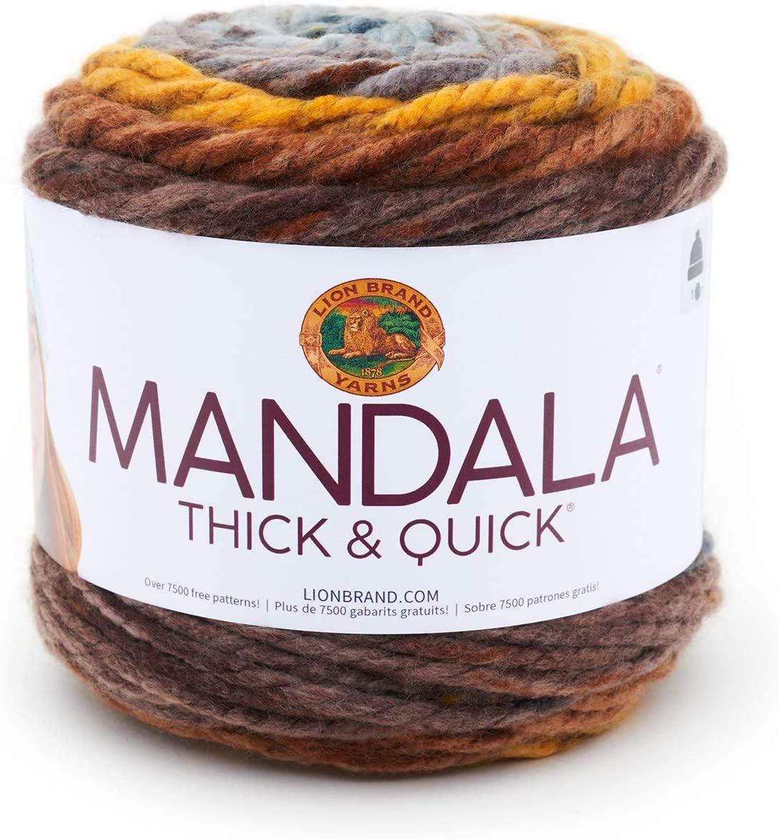 Lion Brand 528-209 Mandala Thick & Quick Yarn - Thumbprint