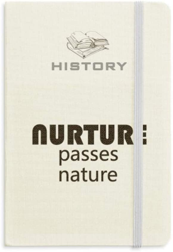 Quote Nurture Passes Nature History Notebook Classic Journal Diary A5