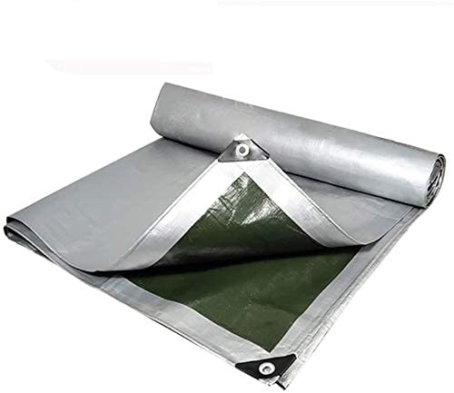HOMRanger Double-Sided Waterproof Polthylene Tarpaulin Outdoor Industrial Rain Awning Awning Cloth in Various Sizes. (Size : 4x10m)