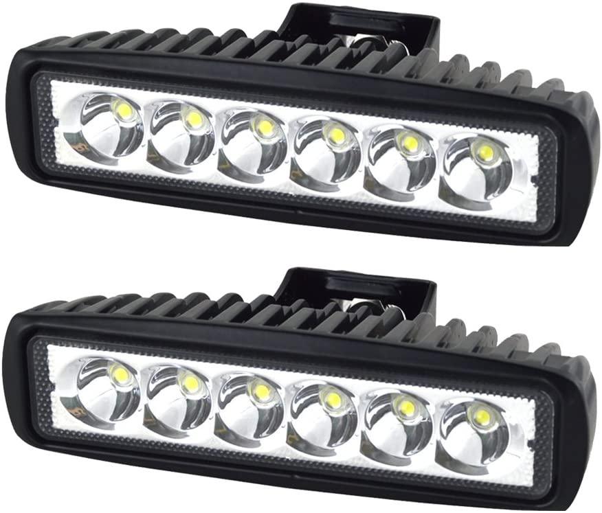 Velonny LED Light Bar Driving Light 2 PCS 18W Work Lamp Off Road Lights Spot Beam High Power Waterproof For Jeep Cabin Boat SUV Truck Car ATV 2 Years Warranty