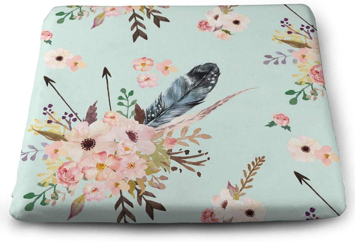 Boho Floral Square Cushion,Seat Cushion, Not Easy to Deform, Durable,1513 Inch Cushion