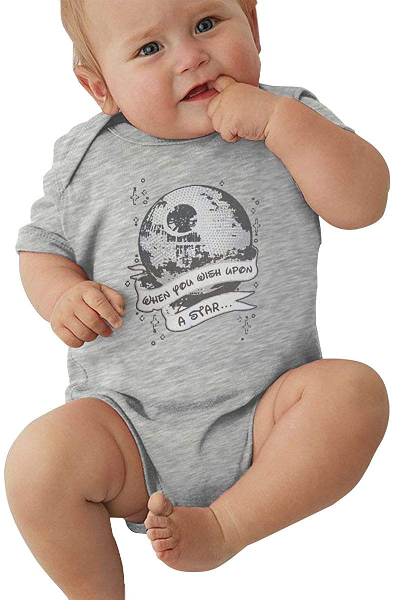 Baby When You Wish Upon A Death Star Outdoor Baby Jersey Bodysuit