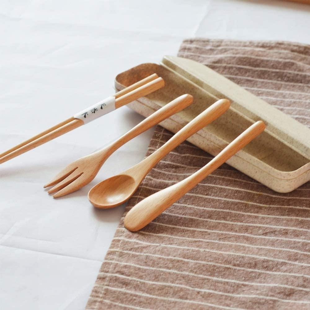 YiCanGg Exquisite Chopsticks/Spoon/Fork Gift Box, Portable Beech Chopsticks, High-end Cutlery Set, Non-Slip High Temperature Resistance, Tasteless/Environmentally Friendly, Chopsticks