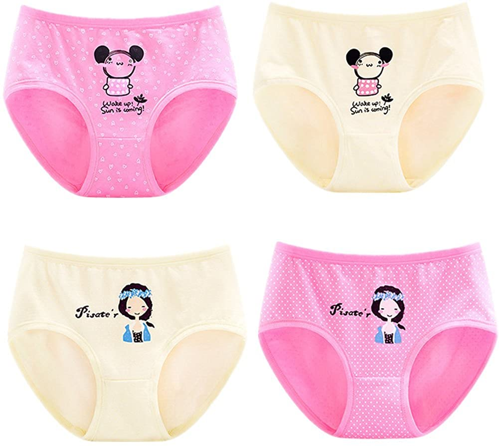 JIEYA 4-Pack Baby Girls Cotton Underwear with Bow-Knot Briefs,Assorted Color