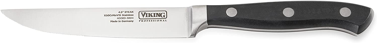 Viking Professional Cutlery Serrated Steak Knife, 4.5 Inch