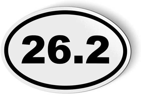 Stickers & Tees 26.2 Oval Marathon - Car Magnet - 3