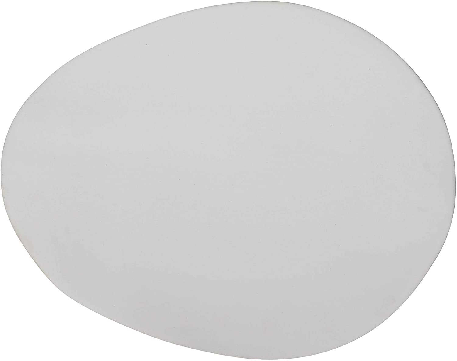 Creative Co-op Large Matte White Oval Stoneware Platter