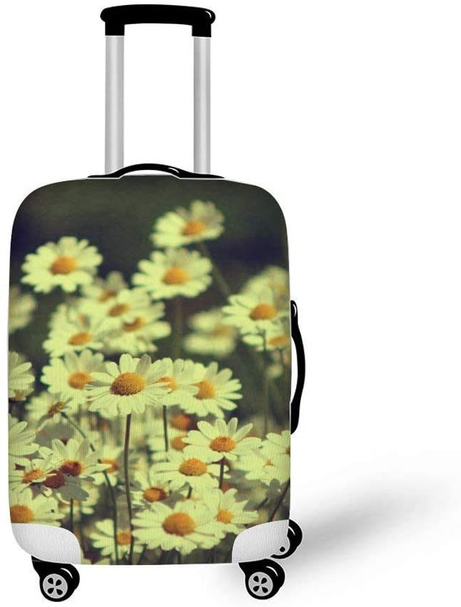 Vintage Daisies Fashionable Baggage Suitcase Protector Travel Luggage Cover Anti-Scratch
