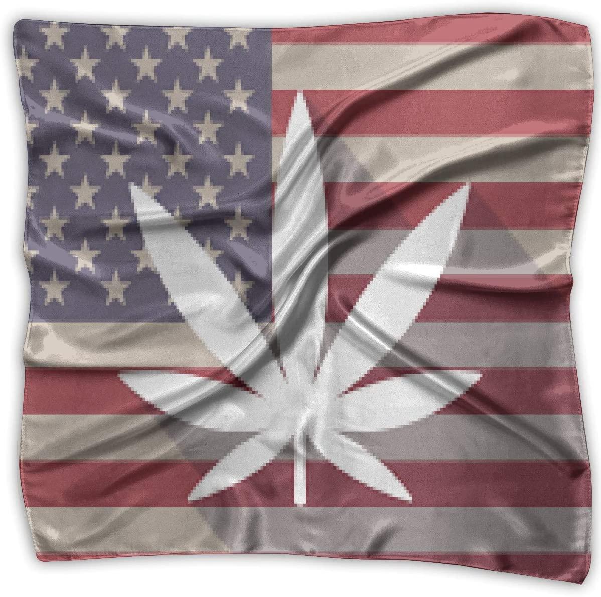 WFIRE USA Flag Weed Square Handkerchiefs Scarf Shawl Bandanas Headscarf Neckerchief Tie Hair Scarf