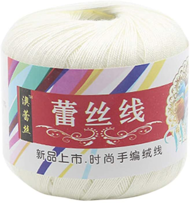 minansostey Mercerized Cotton Cord Thread Yarn for DIY Embroidery Crochet,Knitting,Lace Sewing Accessories