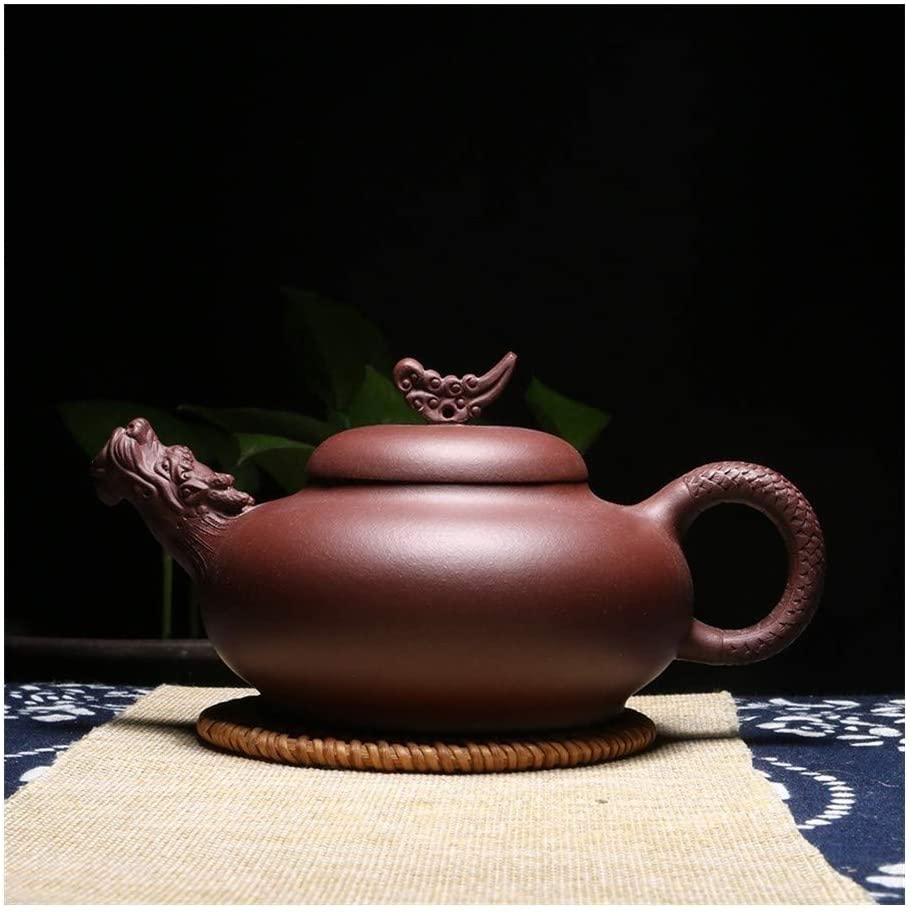 Bin Zhang Teapot pure hand-Dragon Kung Fu tea teapot (Color : Red)