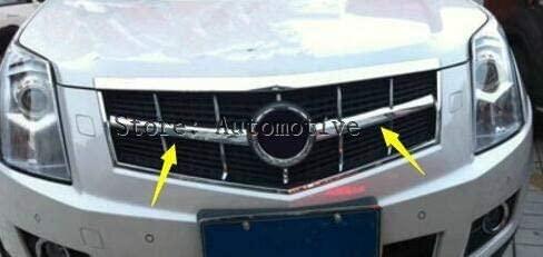 Mudguards Front Face Grille Grill lid Cover Kit Trim Bezel 2 Pcs For Cadillac SRX 2010-2014