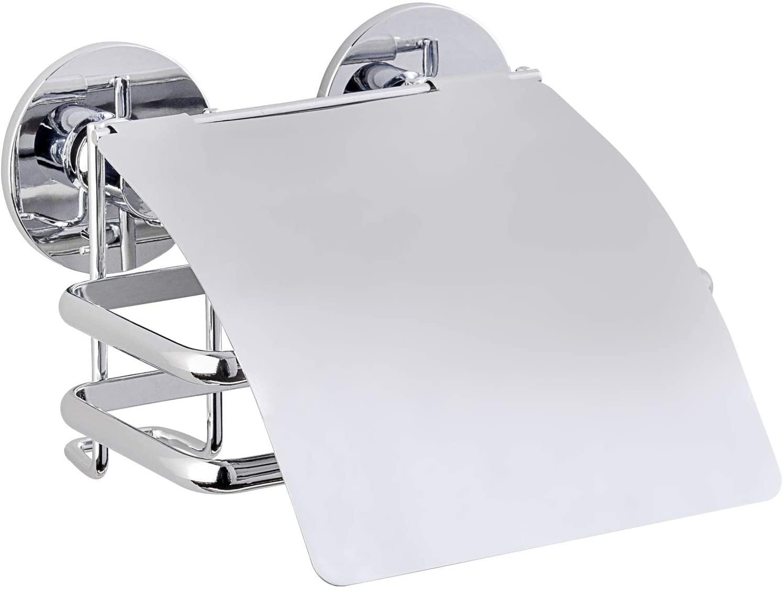 Wenko 22755100 Express-Loc toilet paper holder Cali 5.3 x 3.3 x 5.5 inch Shiny