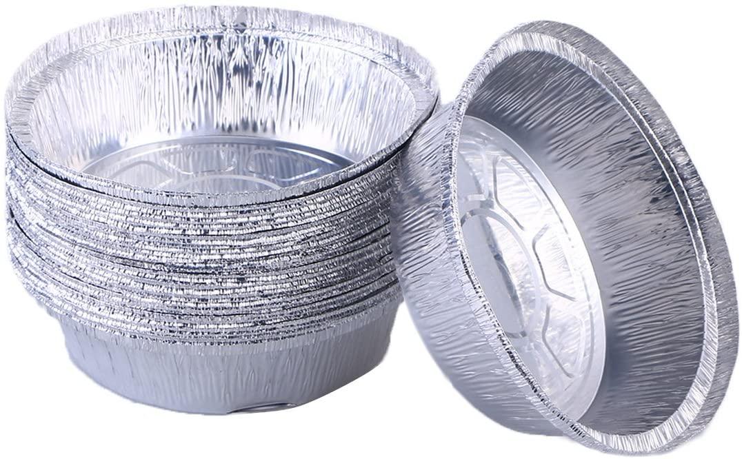 BESTONZON Disposable Aluminum Foil Tart/Pie Pans|Perfect for Homemade Pies Tart Quiche - 6 Inch (30pcs)