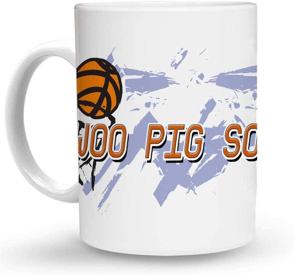 Makoroni - WOO PIG SOOIE Basketball 6 oz Ceramic Espresso Shot Mug/Cup Design#98