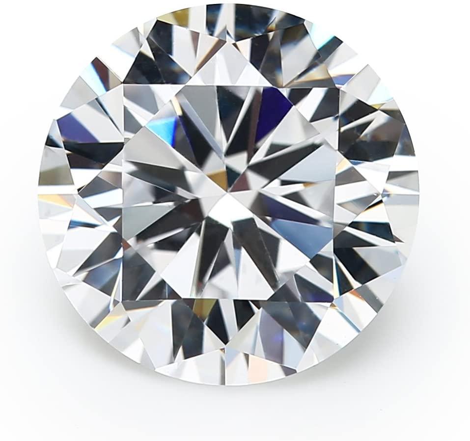 50PCS 8.0MM 5A Round Machine Cut White Cubic Zirconia Stone Loose CZ Stones JIANGYUANGEMS