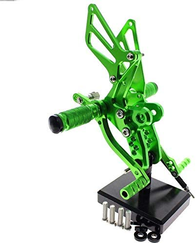 Frames & Fittings CNC Aluminum Adjustable Rearsets Foot Pegs for Suzuki Hayabusa GSX1300R 2002 2003 2004 2005 2006 2007 2008 2009 2010 2011 2012 - (Color: Green)