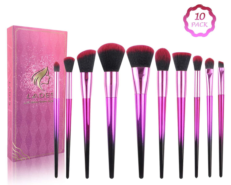 Makeup Brush Sets - 10 Pcs Makeup Brushes for Foundation Eyeshadow Eyebrow Eyeliner Blush Powder Concealer Contour
