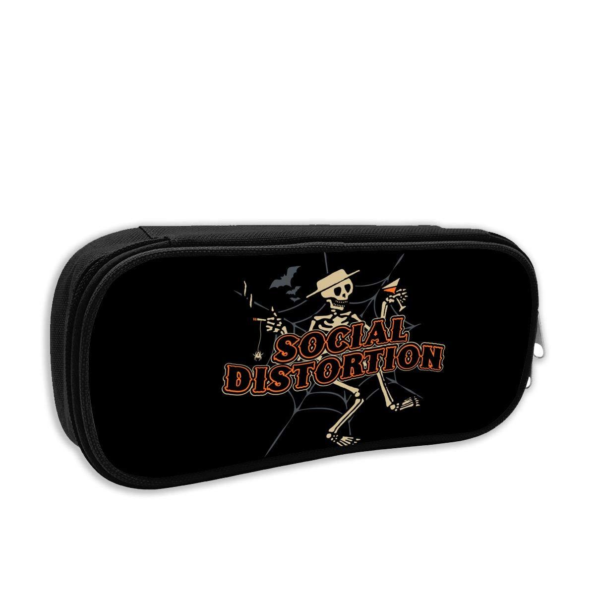 NaohBent Social Distortion New Pencil Case Stationery Bag Fashion Storage Bag Sorting Bag Coin Bag Cosmetic Bag