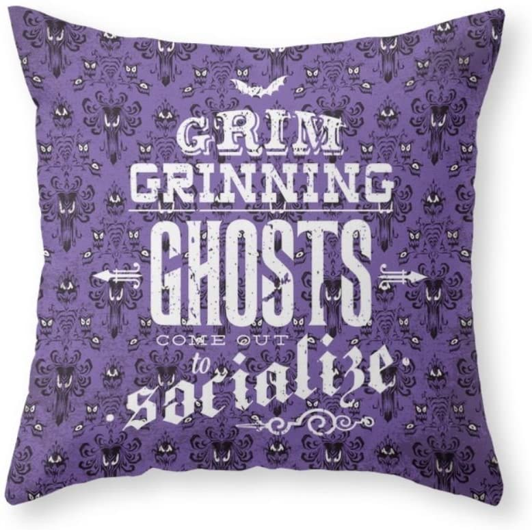 Sea Girl Soft Haunted Mansion - Grim Grinning Ghosts Throw Pillow Indoor Cover Pillow Case For Your Home