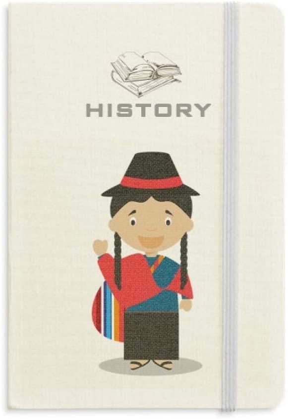 Red Blue Ecuador Cartoon History Notebook Classic Journal Diary A5