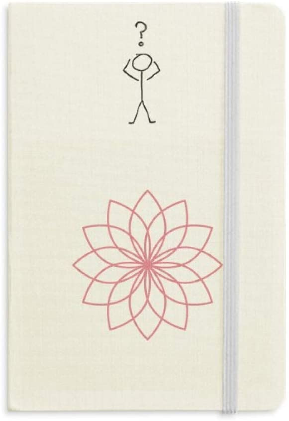 Plant Flower Line Illustration Question Notebook Classic Journal Diary A5