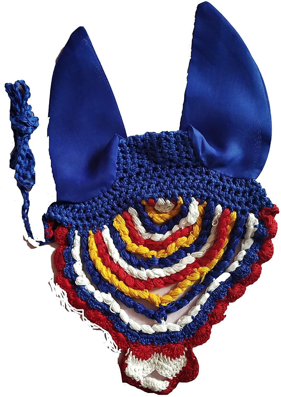 Avani Creations A D Fancy Crochet Fly Veil, Large Horse Size