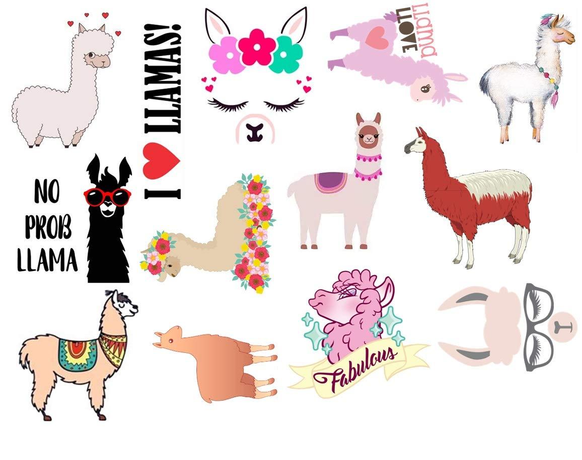 Alpaca - Llama Collection (Llama Temporary Tattoos)