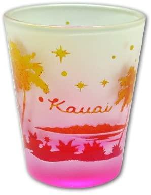 Frosted Palm Tree Kauai Shot Glass